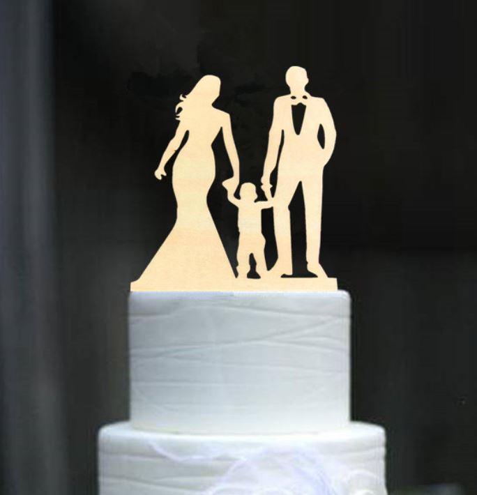 Cake topper Rodina 8 ve dřevě - Obrázek č. 1