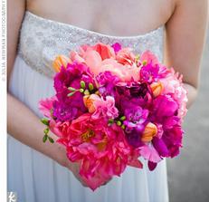 Krásné barvičky (frézie, tulipánky, pivoňky)