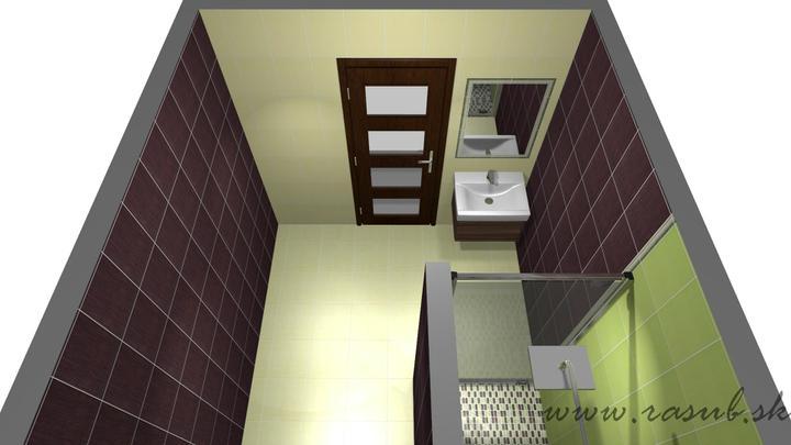 Vizualizacie - final - Technicka miestnost  - kupelna, obklad Bambus, Paradyz