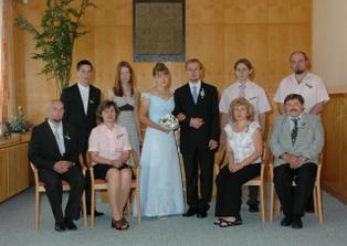 Společné foto s rodinou