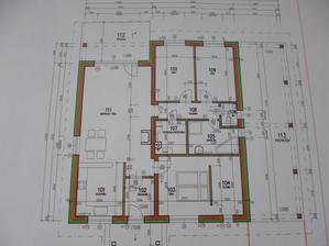 náš projekt, len je tam zmena, že na pravo nieje prístrešok ale garáž spojená s domom :)