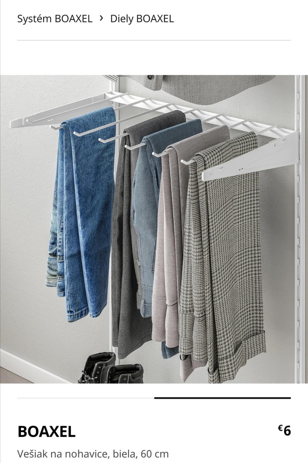 IKEA Boaxel konzola 2x a vesiak na nohavice 1x - Obrázok č. 1