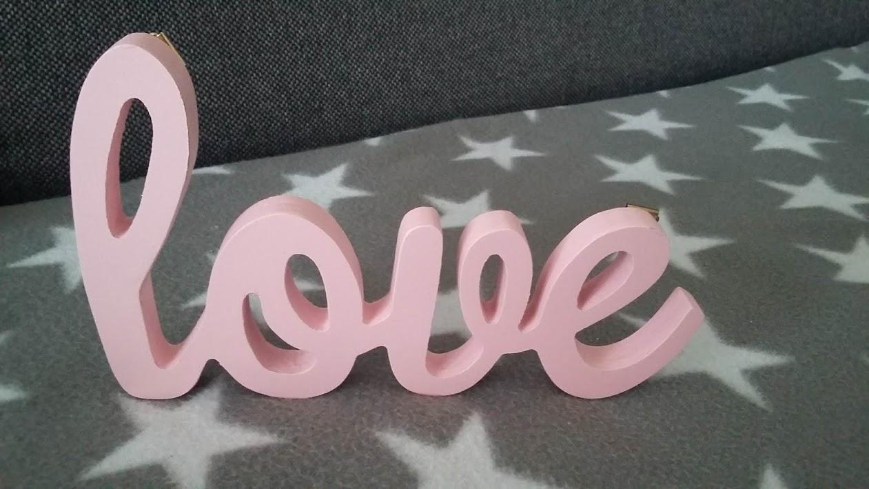 """Drevené nápisy """"love"""" - Obrázok č. 2"""