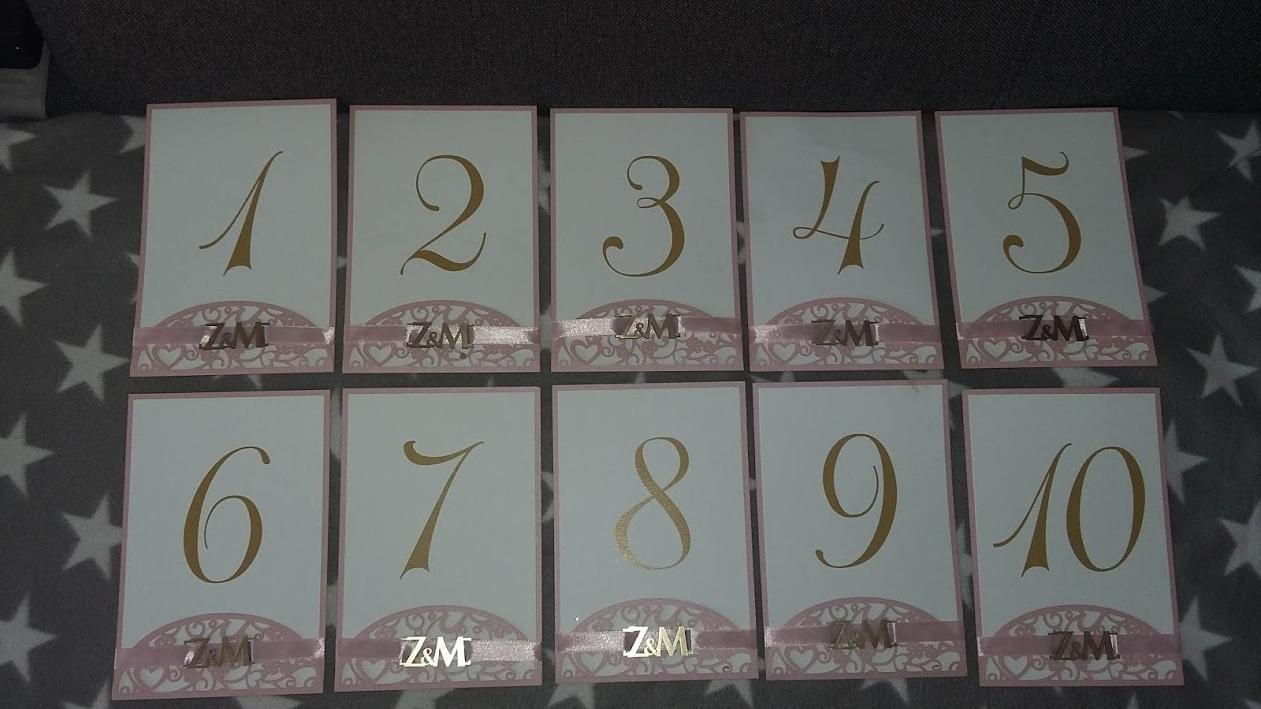 Čísla na stoly - Obrázok č. 2