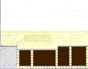 pravá strana - široká jen 40 cm, částečně snížená pracovní plocha