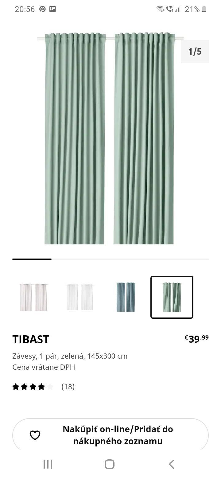 Prosim vas mate niekto tieto zavesy? Alebo nepozerali ste ich na predajni, ci je ta farba skutocne ako na obrazku? - Obrázok č. 1