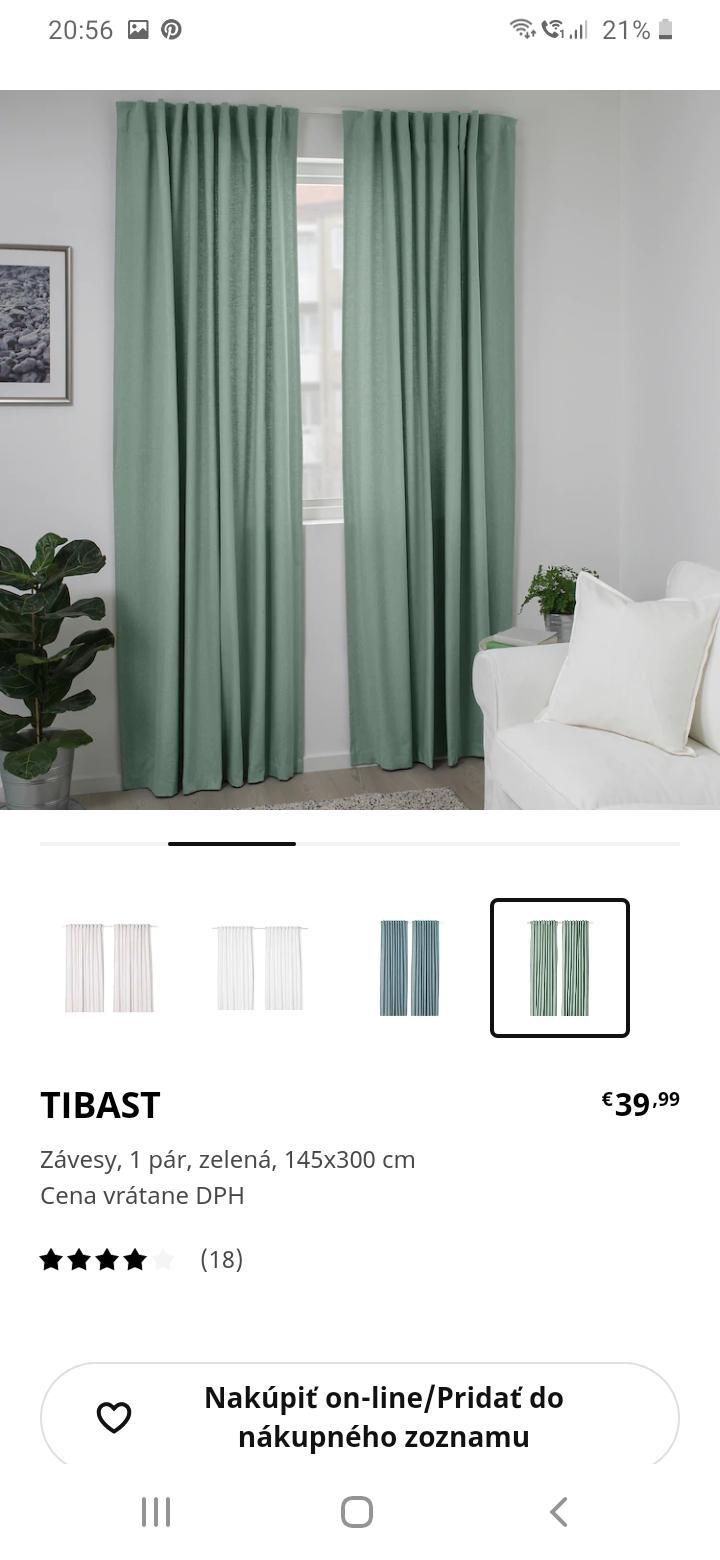 Prosim vas mate niekto tieto zavesy? Alebo nepozerali ste ich na predajni, ci je ta farba skutocne ako na obrazku? - Obrázok č. 2