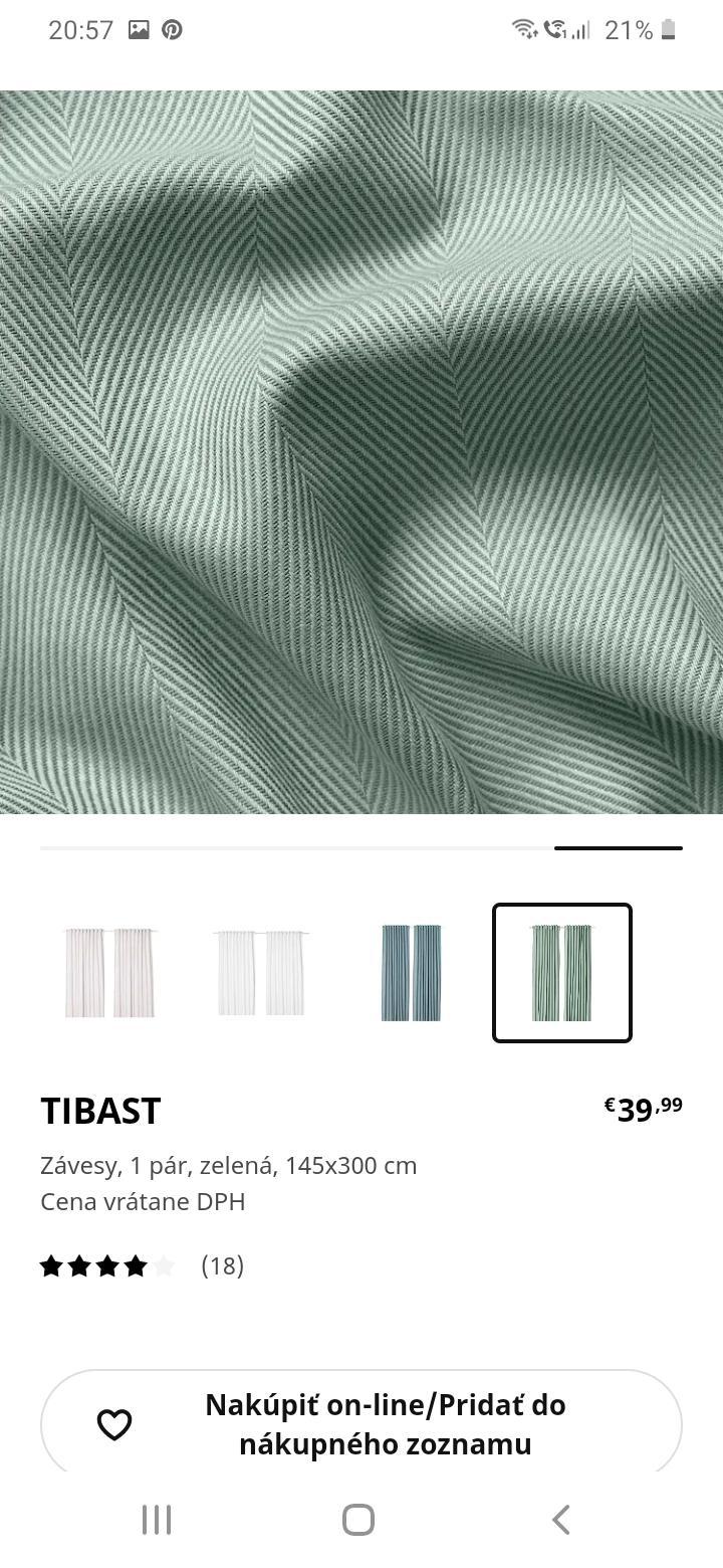Prosim vas mate niekto tieto zavesy? Alebo nepozerali ste ich na predajni, ci je ta farba skutocne ako na obrazku? - Obrázok č. 3