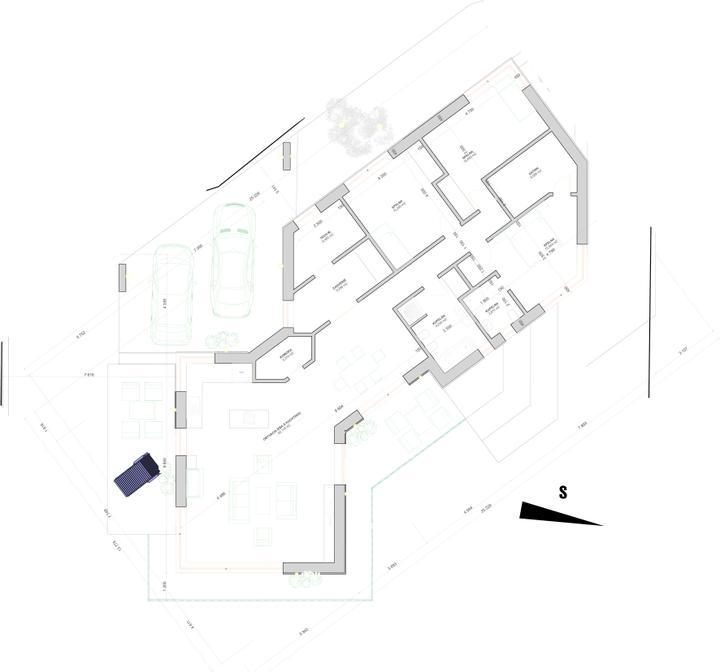 Individualny projekt svahovity pozemok - Podorys projekt c.8