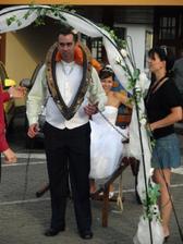 novomanželský čtyřboj,nápad náší úžasné svatební koordinátorky Moniky:-)