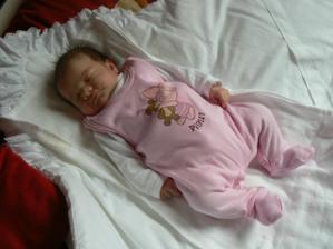 Ahojky volam sa Meggie narodila som sa 25.4.2007 o 07:05hod s mierami 2800g a 51cm :-)