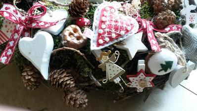 môj handmade adventný veniec :-)