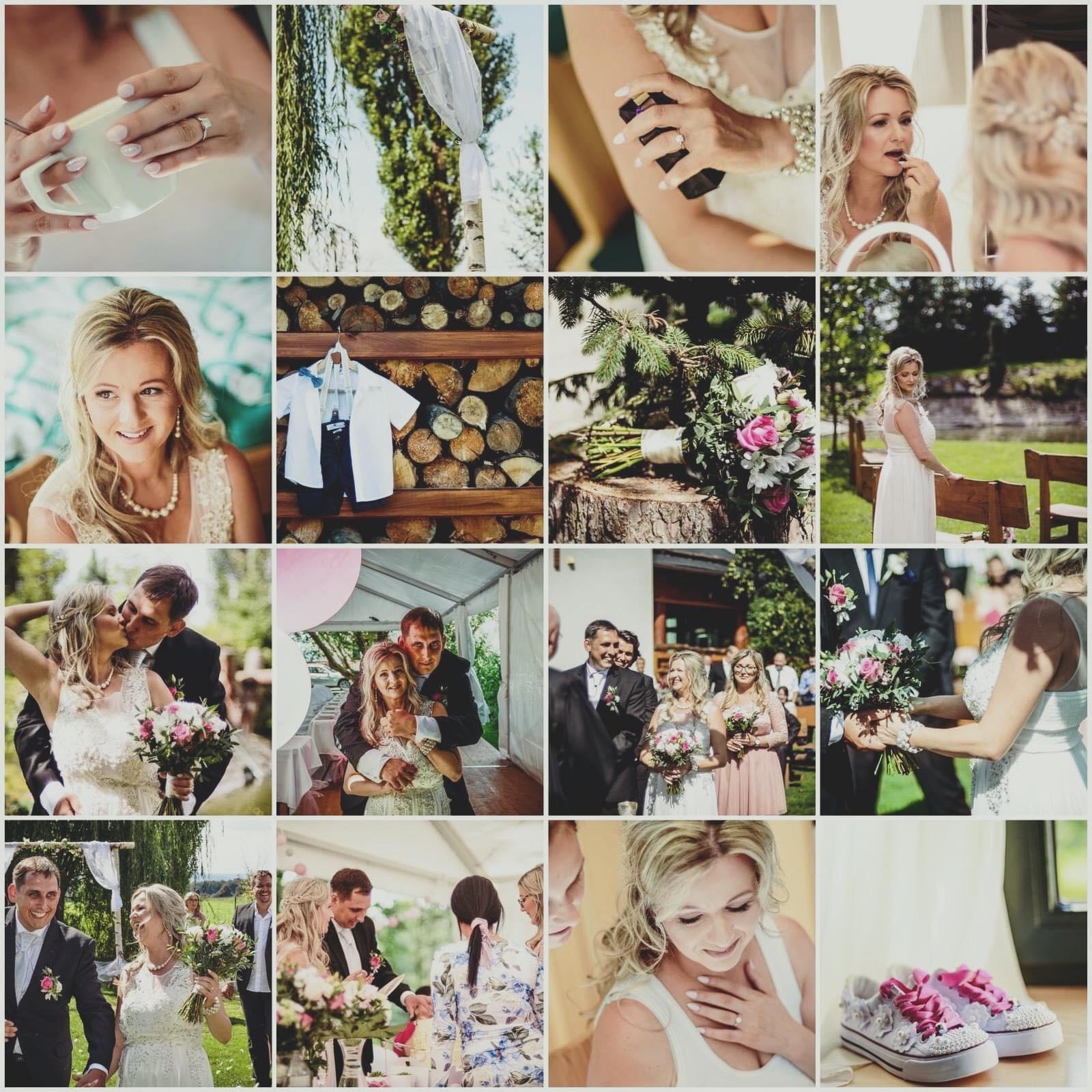 Koláž ze svatby nedaleko Ostravy
