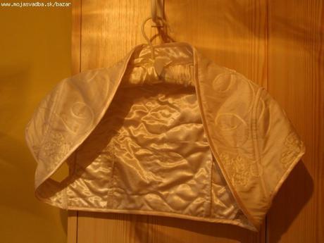 Svadobné bolerko č.38 v maslovej farbe - Obrázok č. 1