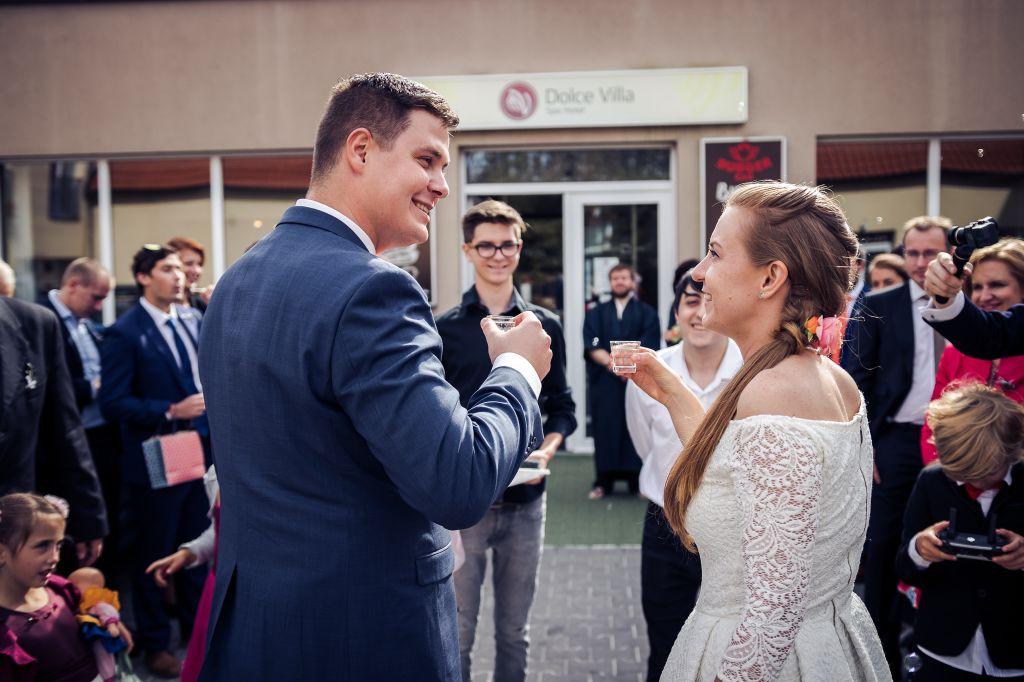 Svatby v Dolce Villa 2018 - Novomanželský přípitek
