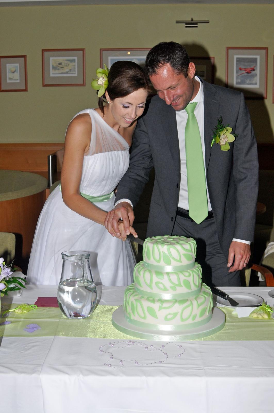 Tradice a zábava - Krájení dortu