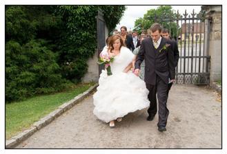 Takhle jsme spěchali na svatbu ...