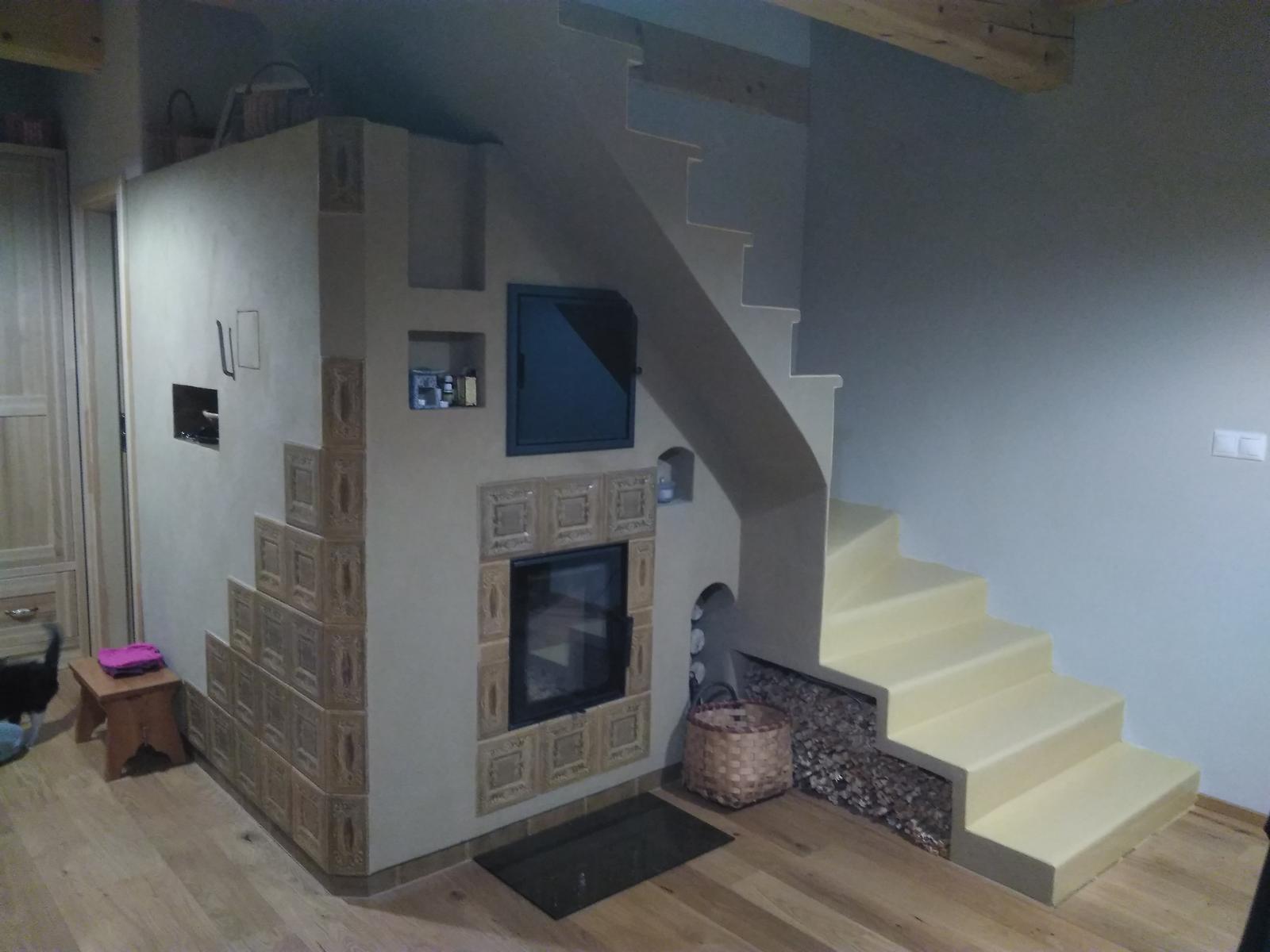 flamaecol - Hlinenná pec so schodiskom, teplovodným výmenníkom, sušiarňou, odkladacími a úložnými plochami