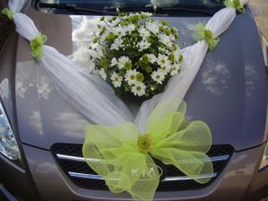 Nazdobené auto pro nevěstu