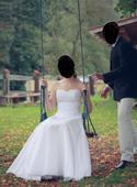 Elegantní svatební šaty vel. S-M (34 - 38), 36