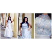 Svatební šaty na zip vel. , 44