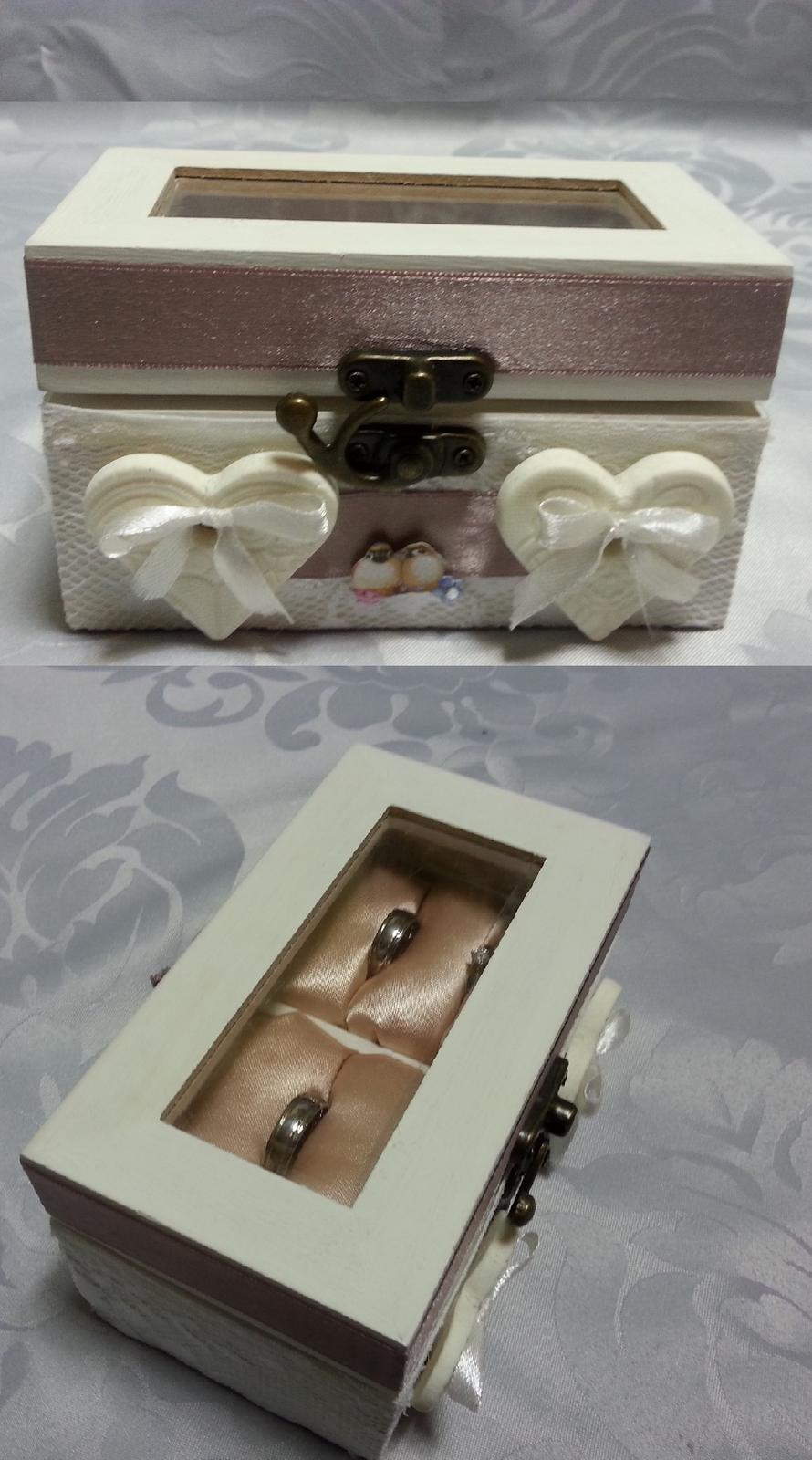 Naša Handmade :) - Krabička na prstienky a naše obrúčky