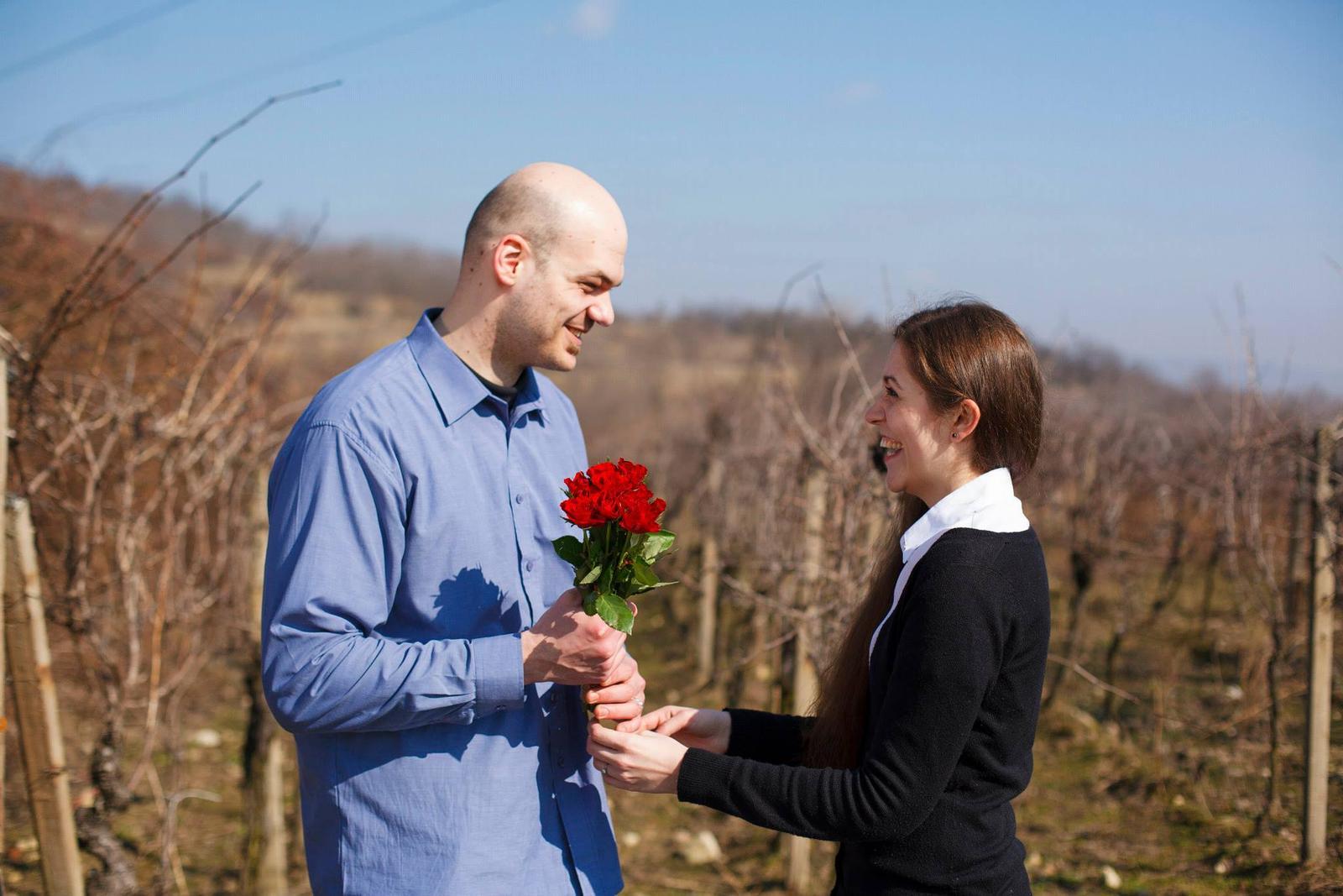 Rande fotenie - Krásne ružičky od skvelého muža...