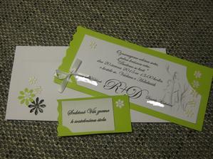 Naše svatební oznámení konečně hotovo :-)