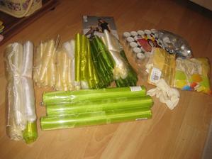 Organzy, balonky, čajový svíčky.. na výzdobu