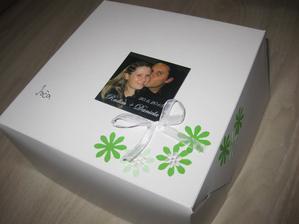 takový máme krabičky na výslužky-ta fotka je magnet, zůstane hostům na památku
