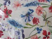 Velký bílý ubrus s květinami  (Tchibo),