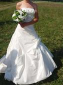 Smetanové šaty Pronovias, model Gemma, vel.34 , 34