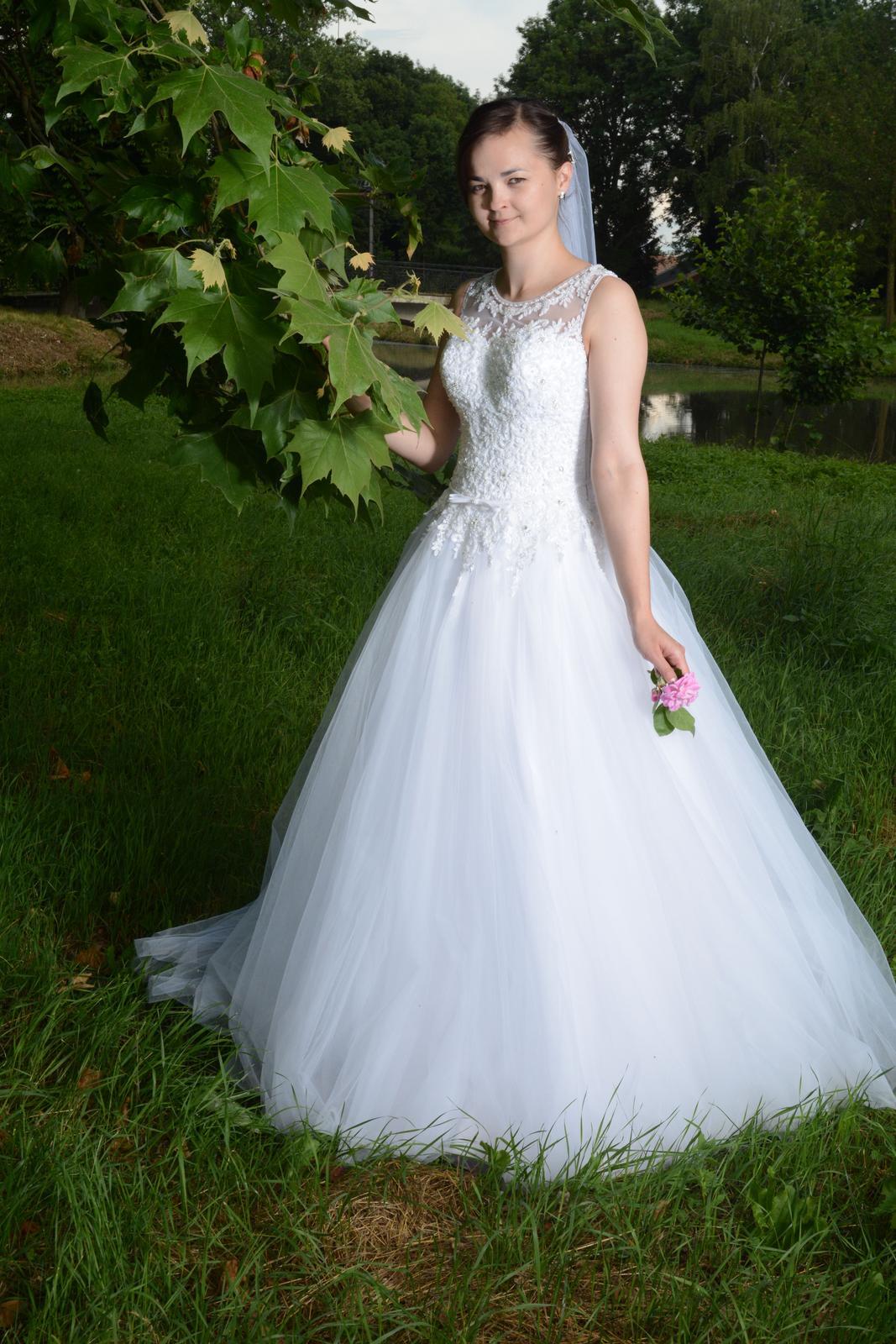svadobné šaty ako pre popolušku 36 - Obrázok č. 1