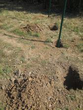 Ale zemina nebyla milosrdná. Hned pod trávou kamení a pak jílovitá tvrdá zem.