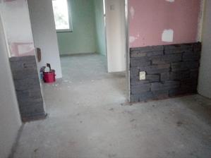 před pokládkou podlah chci dokončit vnitřní obklad - předsíň