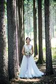 Vílí šaty pro drobnou nevěstu, 34