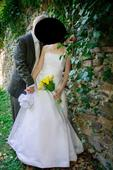 korzetové svatební šaty s perličkami, vel. 38-40, 40