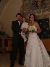 my s naší dcerou Karolínkou