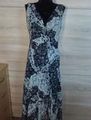 černo biele šaty, 42