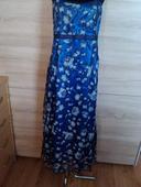 šaty modrostrieborné, 40