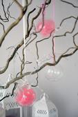 Skleněné závěsné koule 3ks-půjčovna dekorací,