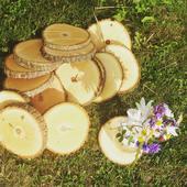 Dřevěná kola na stůl,