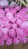 Růžičky drobné růžové pěnové,