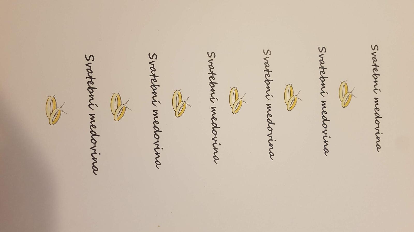 Svatební medovina popisky - Obrázek č. 1