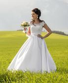 Saténové svadobné šaty, 36
