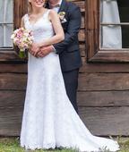 Krajkové svatební šaty Agnes vel. 36/38, 38
