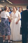 Svadobné šaty veľ. 46-48, 48