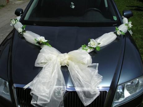 A už to máme za sebou ... 5.9.2009 - Chceme ozdobiť autíčko len takto nejak. Ale ružičky budú oranžové. Niečo v tomto štýle.