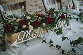 Dřevěný nápis Mr a Mrs, dřevěná písmenka,
