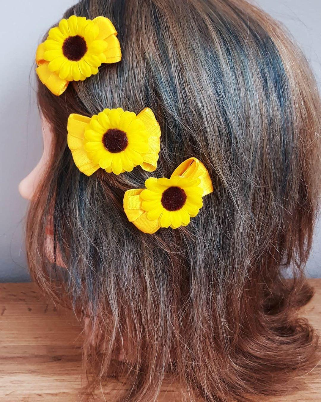 Sponky do vlasů Slunečnice - Obrázek č. 1